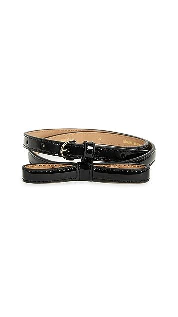 Kate Spade New York Patent Skinny Bow Belt