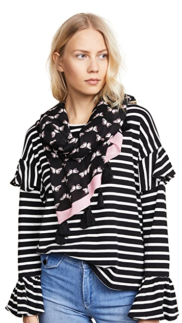 Kate Spade New York Butterfly Oblong Scarf