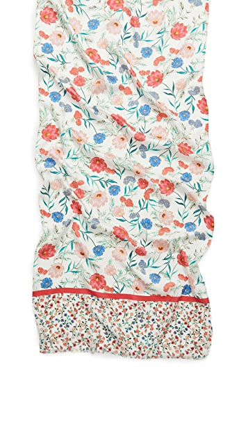 Kate Spade New York Blossom Silk Oblong Scarf