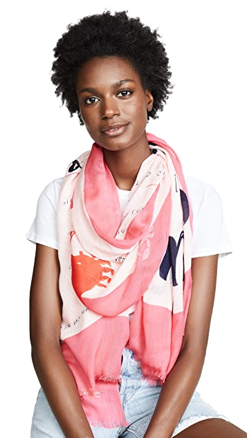 Kate Spade New York Sandy's Seaside Stand Oblong Scarf
