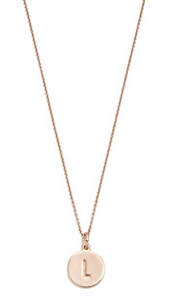 Kate spade new york initial pendant necklace shopbop kate spade new york initial pendant necklace mozeypictures Gallery