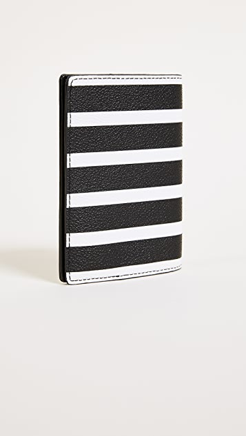 Kate Spade New York Hyde Lane Stripe Passport Holder