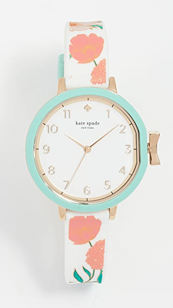 Kate Spade New York Park Row Silicone Watch, 34mm