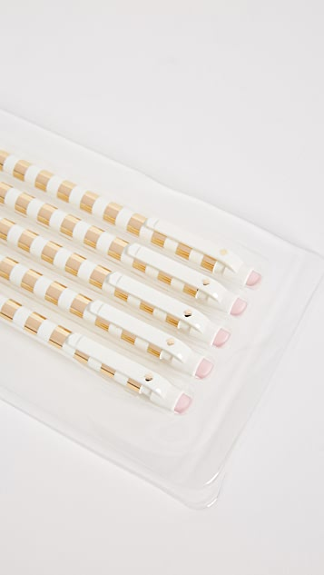 Kate Spade New York Набор карандашей с золотистыми полосками