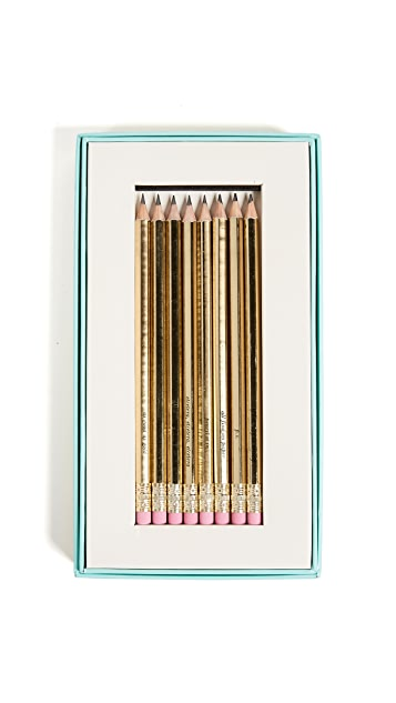 Kate Spade New York As Good As Gold Pencil Set