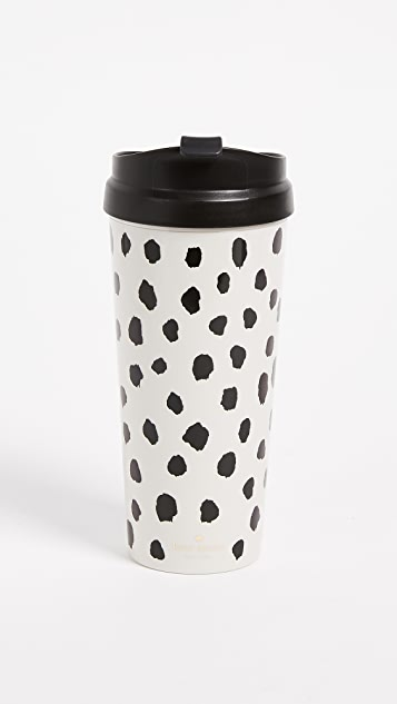 Kate Spade New York Flamingo Dot Thermal Mug - Black