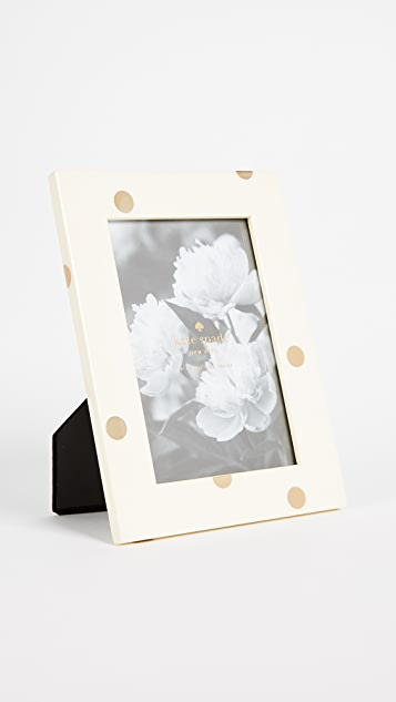 Kate Spade New York 4 x 6 Dots Picture Frame