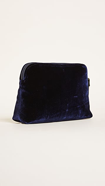 Kate Spade New York Watson Lane Velvet Small Briley Small Makeup Bag
