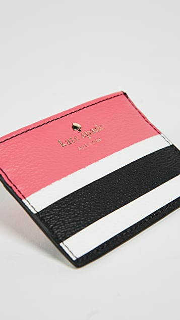 Kate Spade New York Hyde Lane Stripe Pop Card Holder