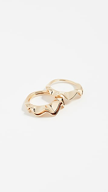 Kate Spade New York Frilled to Pieces Stackable Rings