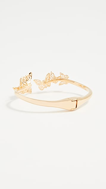 Kate Spade New York Social Butterfly Open Hinged Cuff