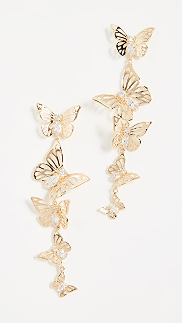Kate Spade New York Social Butterfly Linear Earrings