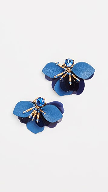 Kate Spade New York Vibrant Life Leather Statement Studs