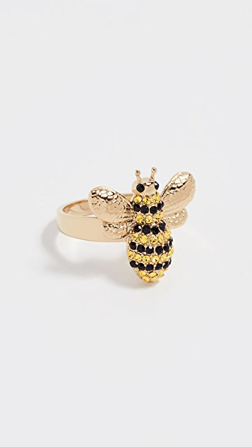 Kate Spade New York Picnic Perfect Pave Bee Ring