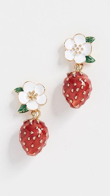 Kate Spade New York Picnic Perfect Strawberry Drop Earrings