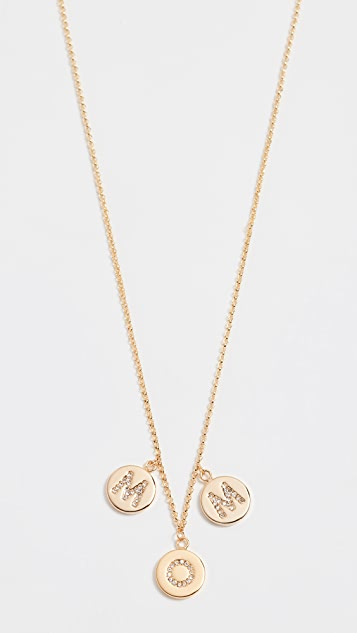 Kate Spade New York Mom Knows Best Pave Mom Charm Necklace