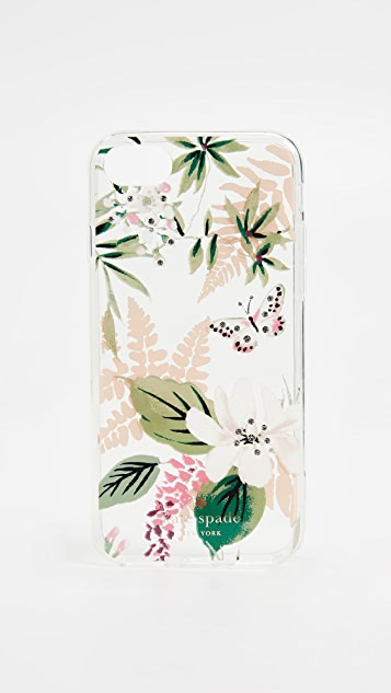 Kate Spade New York Botanical Clear iPhone 8 Case