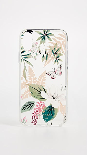 Kate Spade New York Botanical Clear iPhone X Case - Clear Multi