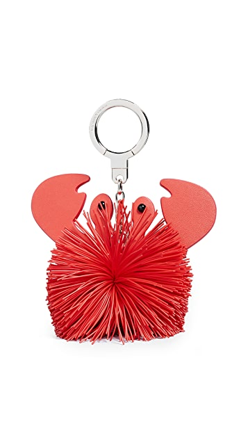 Kate Spade New York Crab Pouf Keychain