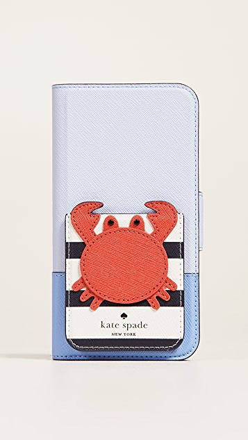 Kate Spade New York Crab Phone Sticker Pocket