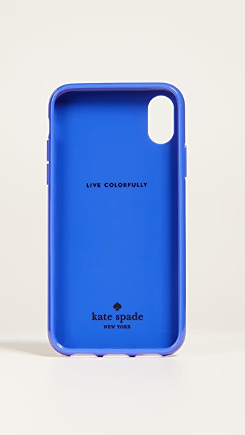 Kate Spade New York Stripe Crab iPhone X Case