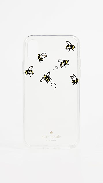 Kate Spade New York Stick To It iPhone X Case with Card Pocket