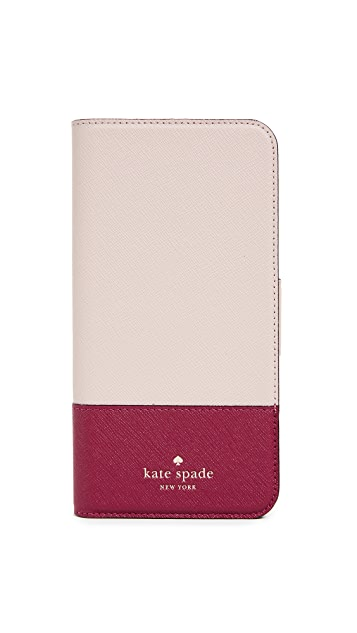 Kate Spade New York Leather Wrap Folio  IPhone 8 Plus Case