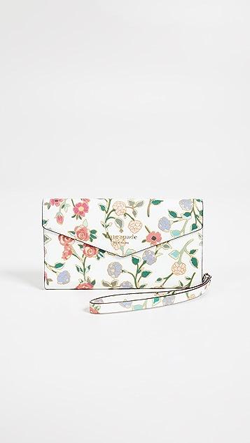 Kate Spade New York Mini Bloom iPhone X Envelope Wristlet
