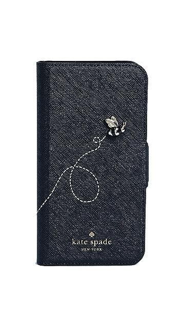 Kate Spade New York Buzzworthy iPhone X Folio Case