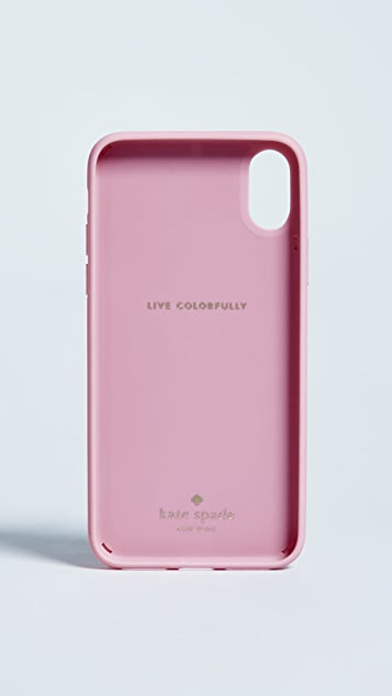 Kate Spade New York Silicone Alligator Stand iPhone X Case