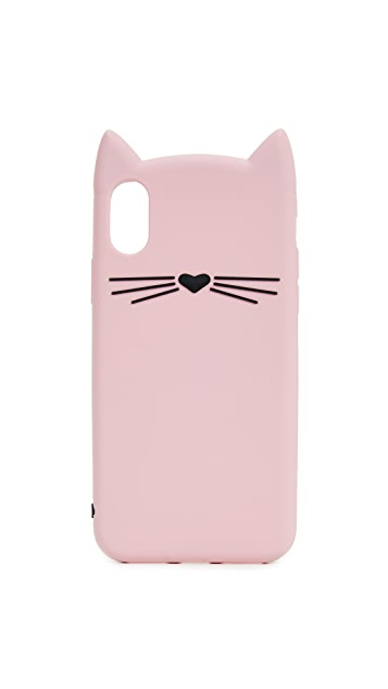 Kate Spade New York Silicone Cat iPhone 8 Case