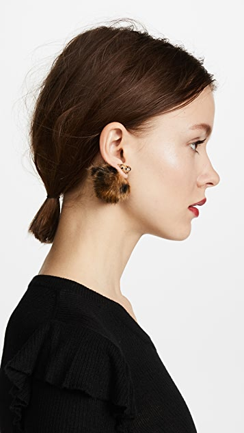 Kate Spade New York Cheetah Reversible Earrings