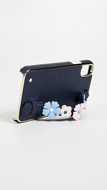 Kate Spade New York Floral Handstrap Stand iPhone X Case