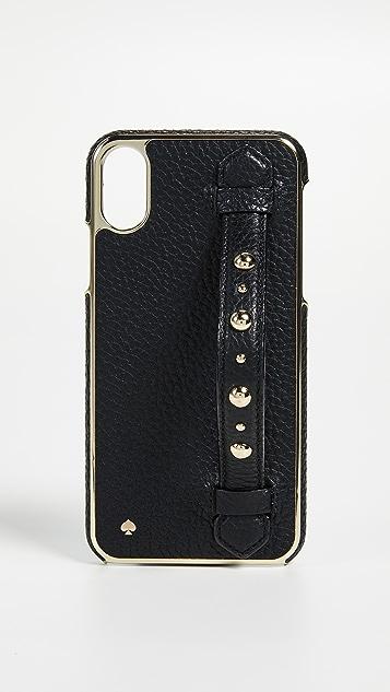 Le Moins Cher Vente Discount Pas Cher Kate Spade Nouvelle Dragonne Clouté York Support Iphone X Cas CSOo5gxS