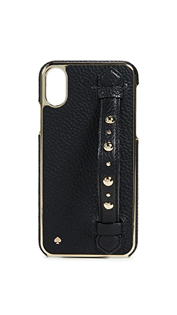 Kate Spade New York Studded Hand Strap Stand iPhone X Case