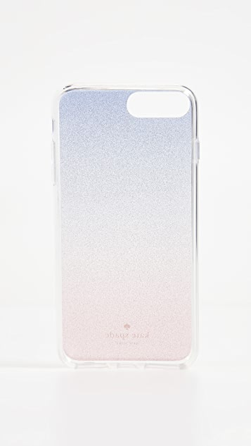 Kate Spade New York Sunset Glitter Ombre iPhone 8 Plus Case