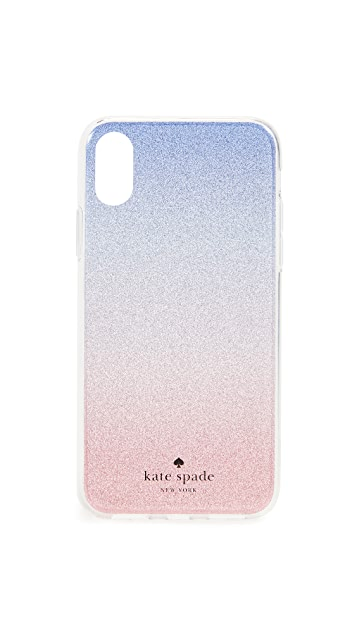 Kate Spade New York Sunset Glitter Ombre iPhone X Plus Case