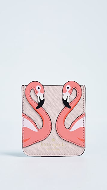 Kate Spade New York Flamingo Sticker Pocket