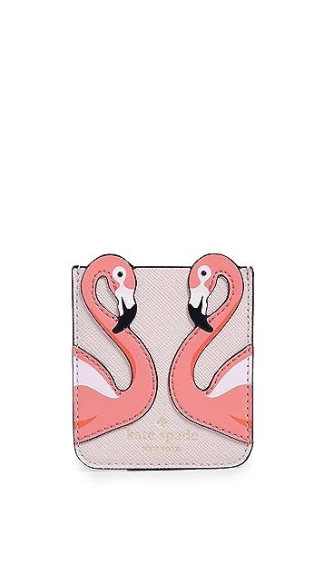 Kate Spade New York Flamingo Sticker Pocket