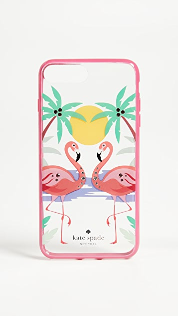 Kate Spade New York Jeweled Flamingos iPhone 7 / 8 Case