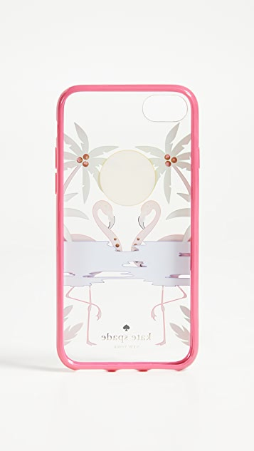 Kate Spade New York Jeweled Flamingos iPhone 7 Plus / 8 Plus Case
