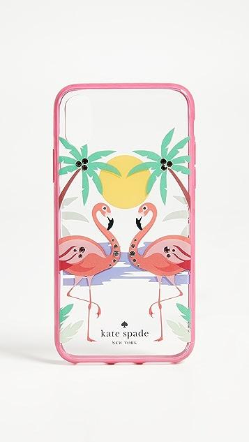 Kate Spade New York Flamingos iPhone X Case