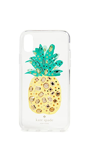 Kate Spade New York Jeweled Pineapple iPhone X Case