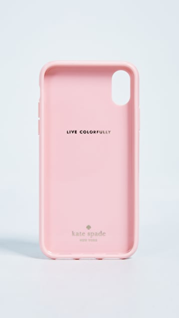 Kate Spade New York Painted Flamingos iPhone X Case