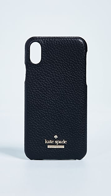Kate Spade New York Pebbled iPhone X Snap Case