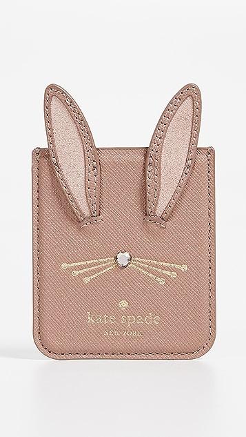 Kate Spade New York Rabbit Sticker Pocket iPhone X Case