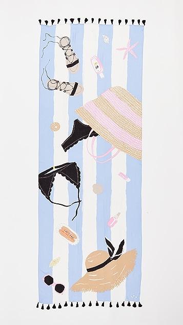 Kate Spade New York Beach Towel Oblong Scarf
