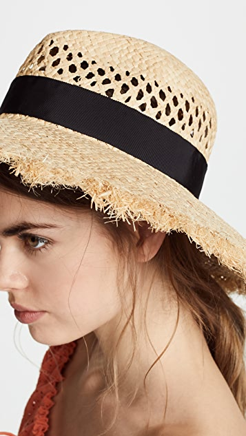 Kate Spade New York Openwork Long Brim Fedora