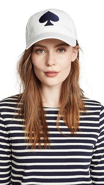 Kate Spade New York Large Spade Baseball Hat