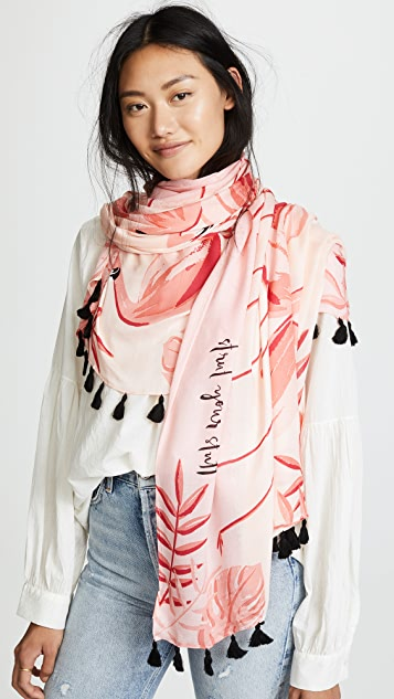 Kate Spade New York Flamingo Oblong Scarf
